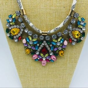 Jewelry - Stunning Multicolored Statement Necklace on Cord